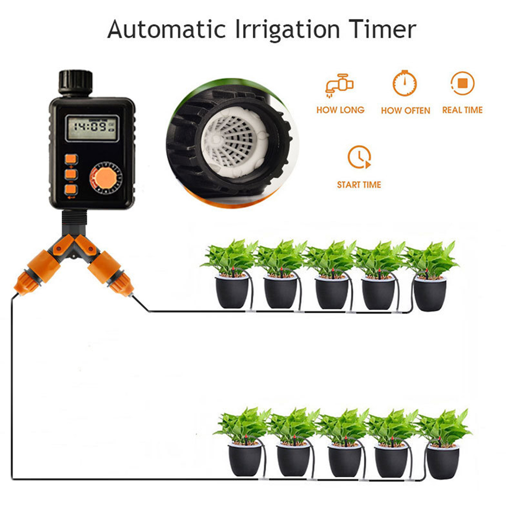 Garden Watering Timer Automatic Electronic Water Timer Irrigation Timer Controller System Autoplay Irrigator Garden Tool
