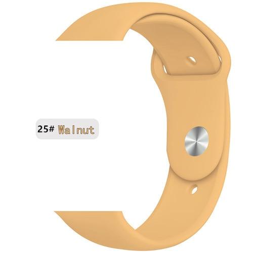 Ремешок для apple watch band 44 мм/40 мм iwatch band 5 4 42 мм 38 мм correa pulseira watch band для apple watch 5 4 3 браслет 44 мм - Цвет ремешка: Walnut 25