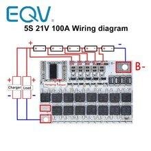 3s 4S 5S bms 12v 16.8v 21v 3.7v 100a li-ion lmo ternary bateria de lítio proteção placa de circuito li-polímero equilíbrio de carregamento