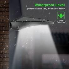 Güneş enerjisi PIR hareket sensörü duvar lambası dış mekan su geçirmez enerji tasarrufu sokak Yard yolu ev bahçe güvenlik lambası 30 LEDs