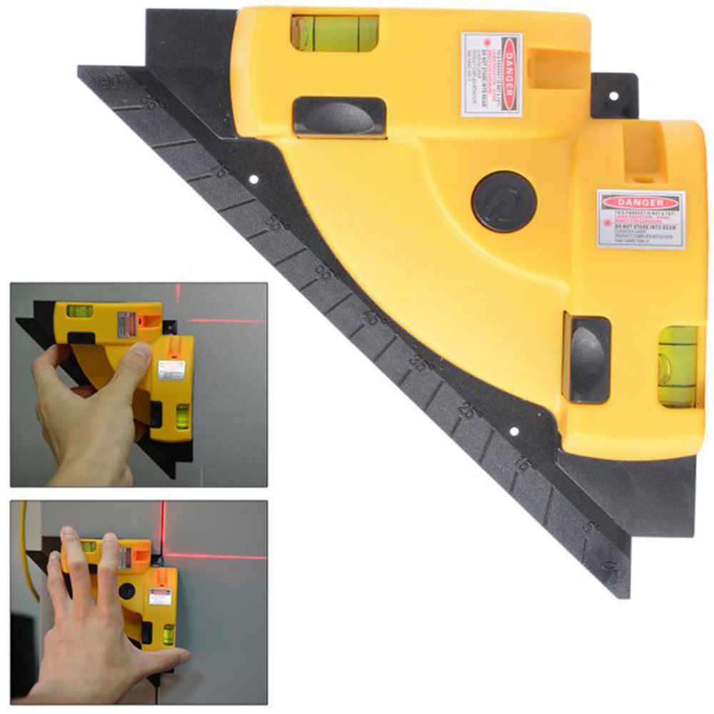 38 # угол 90 градусов, высокоточный лазерный угловой метр, измерительный инструмент для маркировки проволоки, лазерный уровень, линейная проекция, квадрат, справа