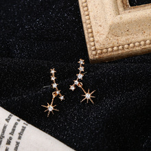 Star Heart  Elegant stud earrings gothic christmas jewelry fashion cute crystal small women