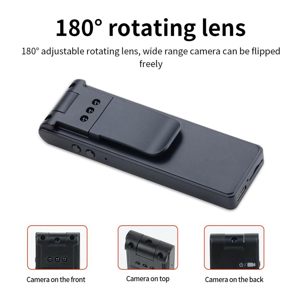 8 horas usb mini câmera portátil 1080p