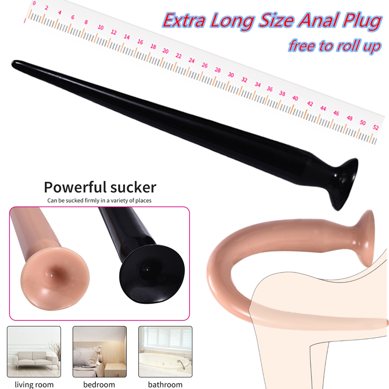 50cm Super Long Soft Anal Butt Plug With Suction Cup Prostate Massager Snake Dildo Anus Masturbator Products For Adults Sex Toys
