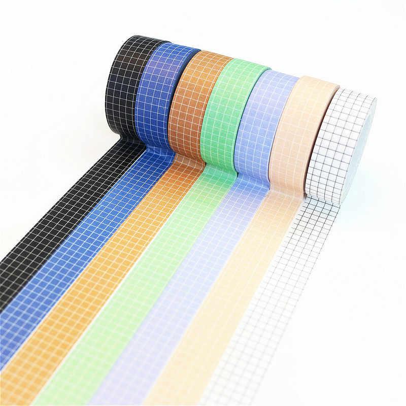 10M Washi Tape Lucu Dekoratif Pita Perekat Warna Solid Masking Tape untuk Stiker Scrapbooking DIY Stationery Tape