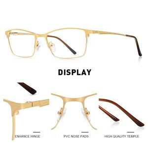 Image 2 - MERRYS DESIGN Men Luxury Titanium Alloy Optics Glasses Male Ultralight Eye Myopia Hyperopia Prescription Eyeglasses S2041