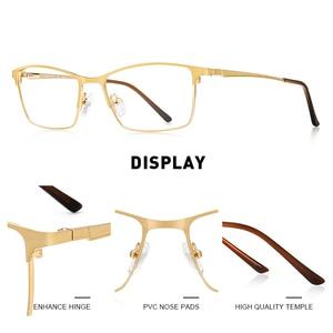 Image 2 - MERRYS デザイン男性高級チタン合金光学メガネ男性超軽量目近視遠視処方眼鏡 S2041