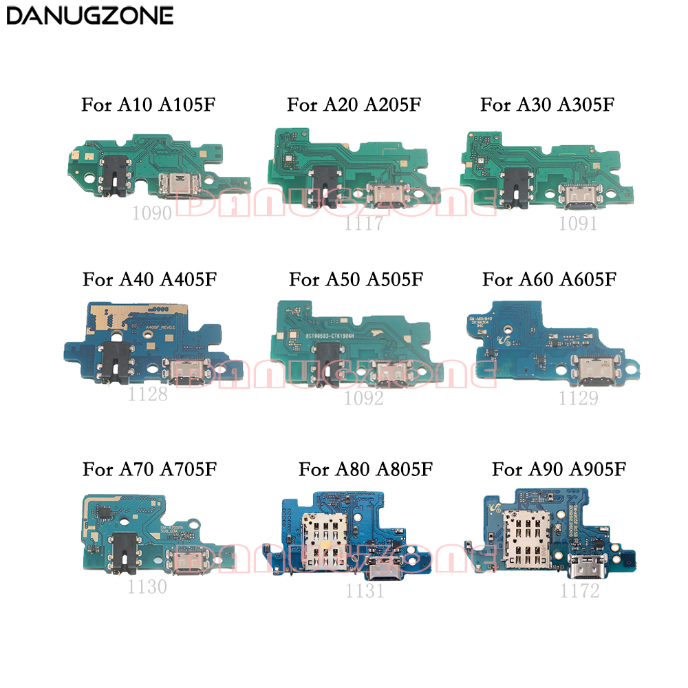 USB Charging Dock Socket Jack Connector Charge Board Flex Cable For Samsung A10 A20 A205F A30 A40 A50 A505F A60 A70 A80 A90