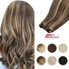 Moresoo Волосы Уток Пряди человеческих волос для наращивания