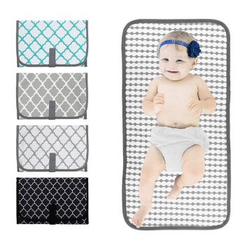 Waterproof Portable Changing Station For Newborn Baby Infant Lightweight Travel Home Diaper Changer Mat With Pockets
