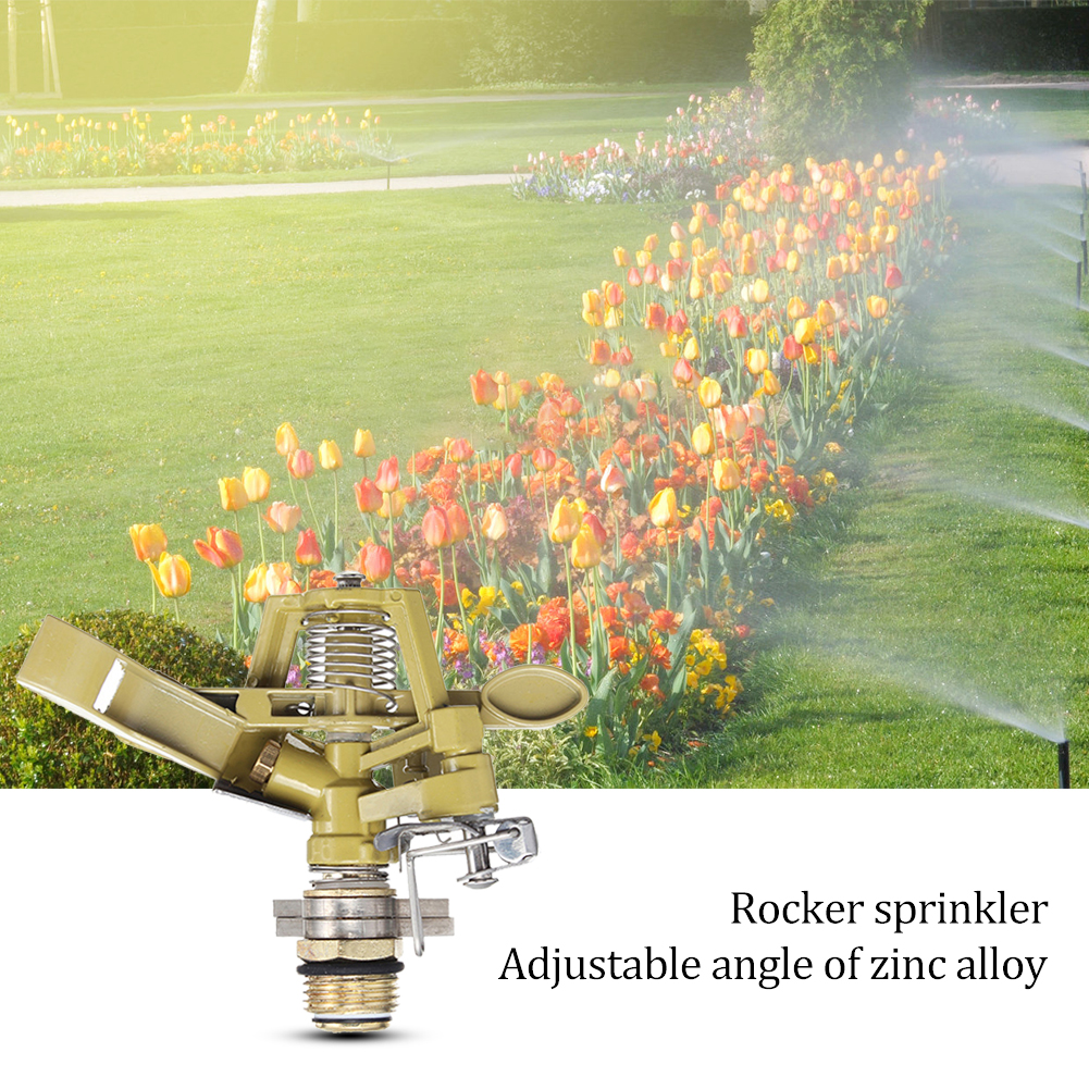 360 Degrees Rotary Agricultural Irrigation Sprinklers Garden Lawn Jet Nozzle