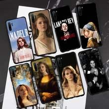 Sexy cantante modelo Lana Del Rey Mona Lisa funda Del teléfono para Huawei honor amigo P 9 10 20 30 40 Pro 10i 7 8 x Lite nova 5t