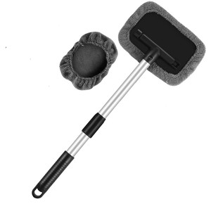 Image 1 - Windshield Cleaning Tool Microfiber Car Interior Window Cleaner with Extendable Aluminum Handle