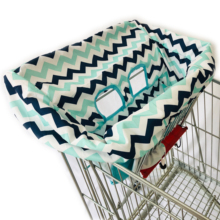 Quality Padded Blue waves Multifunctional 2-in-1 Shopping Cart Cover High Chair Cover for Baby & Infant