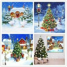 Полная выкладка бриллиантовый рисунок Рождество Дерево Искусство