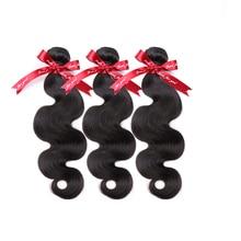 Body-Wave-Bundles Virgin-Hair Natural-Color 100%Human-Hair-Extensions Brazilian 30-Inches