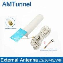 4G LTE Антенна 3g 4G антенна SMA-M наружная антенна с 10 м и SMA-F К CRC9/TS9/SMA разъем для 3g 4G маршрутизатор модем