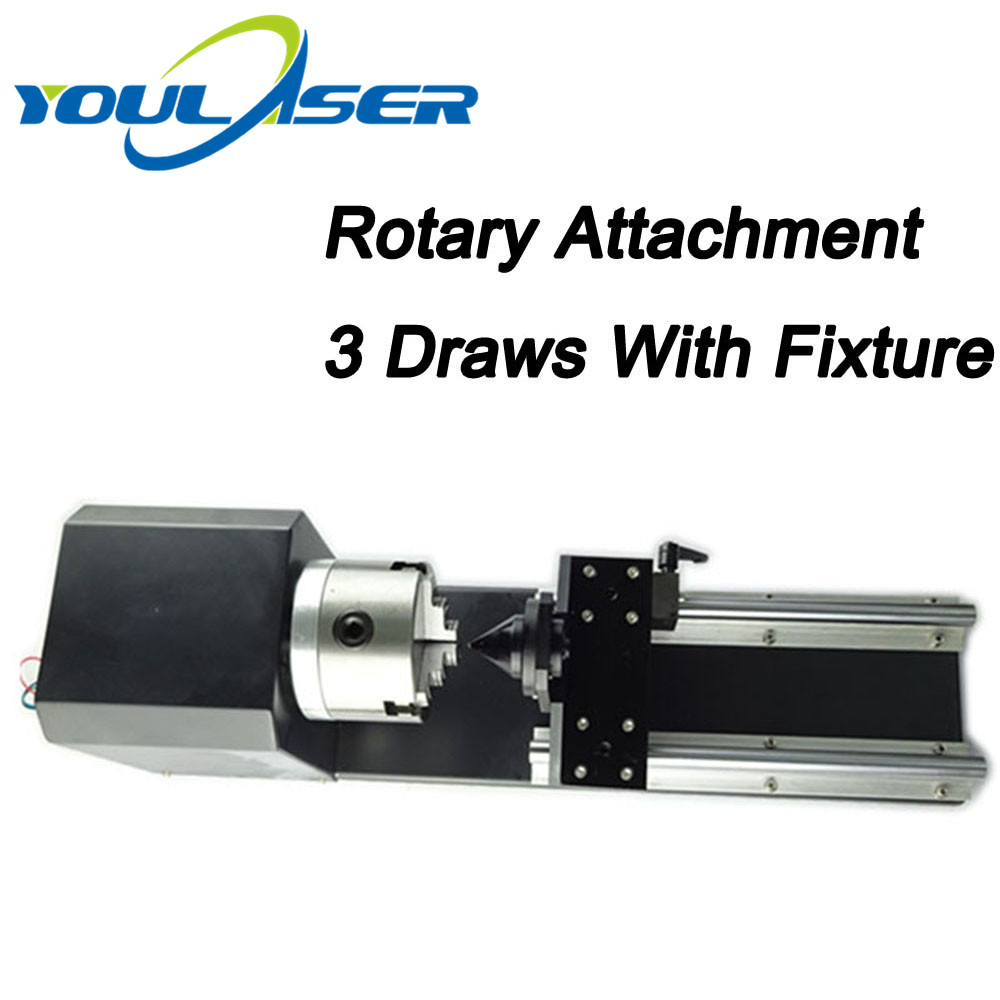 3 Draws Laser Rotary Attachment For Co2 Laser Engraving Cutting Machine