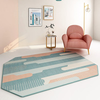 Nordic Geometric Irregular Carpet Home Living Room Thicker Bedroom Carpets Sofa Coffee Table Floor Mat Bedside Blanket Rug Study