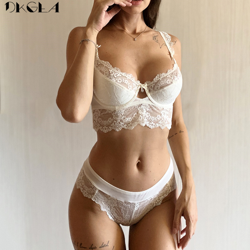 Comfortable Thin Cotton Brassiere Black Push Up Bra Panties Sets Lace Lingerie Black Women Underwear Set Plus Size Sexy Bras