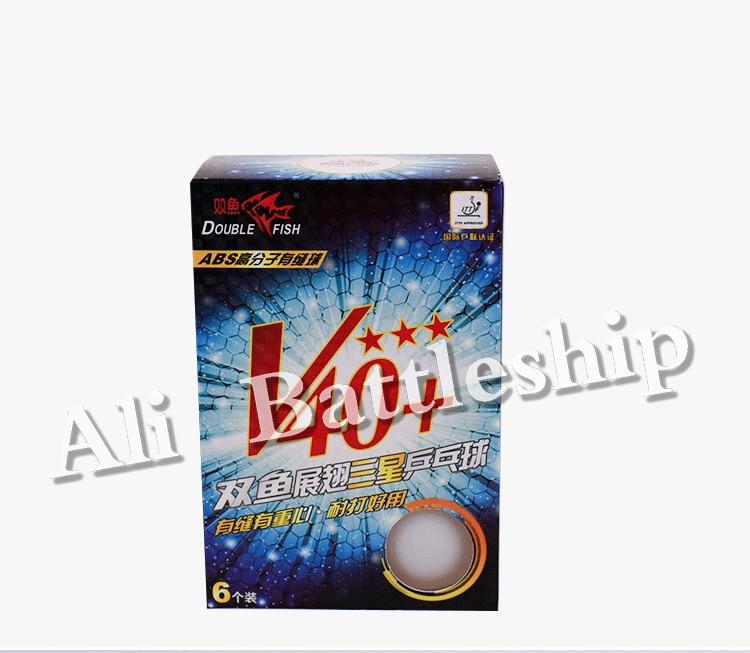 Original Double Fish NEW 3 Star V40+ New Material Seamed PP Ball Table Tennis Ball / Ping Pong Ball 6pcs/box