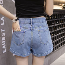 Fashion Summer Denim Shorts Womens High Waist Shorts Jeans Wide Leg Zipper Pockets Ladies Streetwear A Line Spodenki Damskie(China)