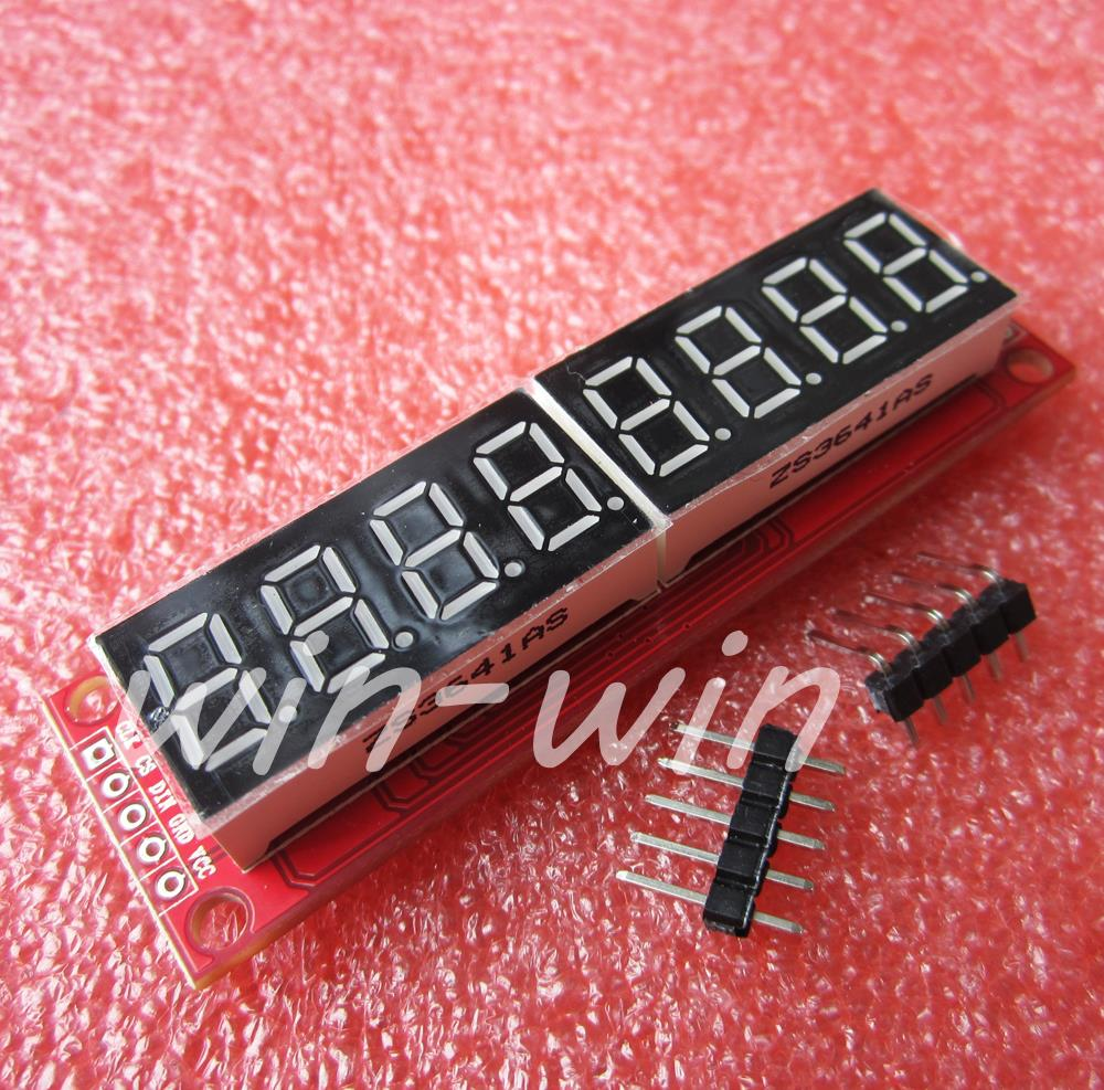 1PCS MAX7219 8 Digit LED Tube Display Control Module For Arduino 3.3V 5V Microcontroller Serial Driver 7-segment