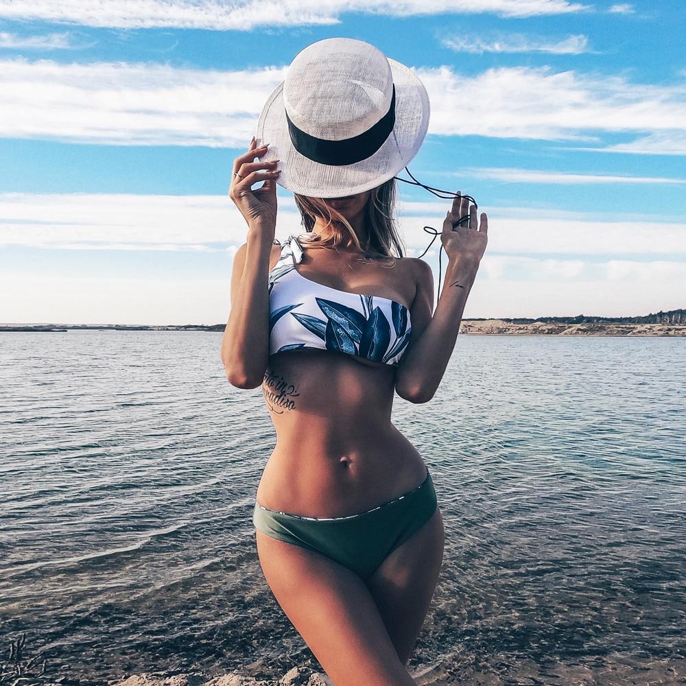 Bikini Women Swimwear Push Up Swimsuit One Shoulder Print Brazilian Bikini Set 2019 Biquini Bathing Suit Bikini Women Swimwear Push Up Swimsuit One Shoulder Print Brazilian Bikini Set 2019 Biquini Bathing Suit Beach Swimming Suit