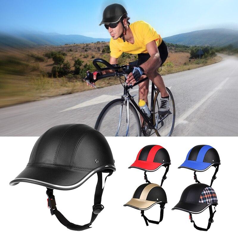 Réglable unisexe vélo cyclisme casque casquette de Baseball Anti UV sécurité vélo casque hommes femmes route casque de vélo pour vtt patinage