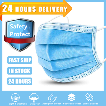 10/50/100pcs Face Mask Disposable 3 Ply Mouth Mask Filter Non-wove Breathable Anti pollution dust Mondmasker Protective Masks