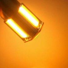цена на COB LED Turn Signal Light Bulb 4PCS Car Amber 1156 G18 BA15s 4 Ship 12V DC 3500K 360 Degrees Auto Signal Lamps