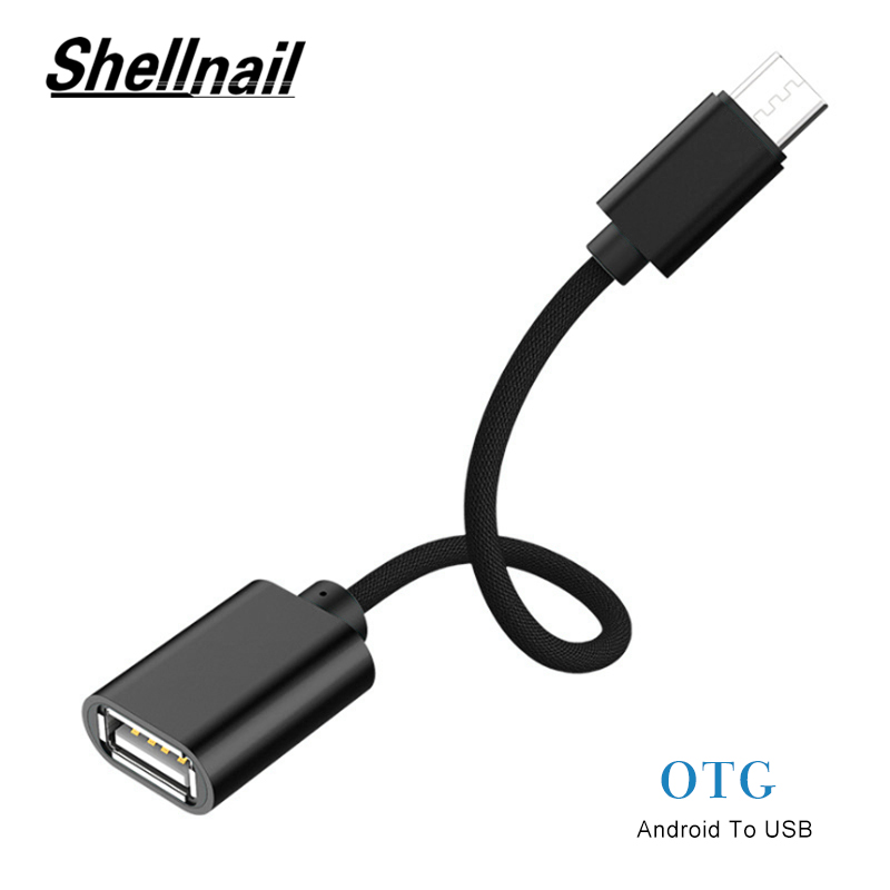 Shellnail Micro USB OTG Cable Adapter For Xiaomi Redmi Note Micro USB ConnectorFor Samsung S6 Tablet Android USB 2.0 OTG Adapter