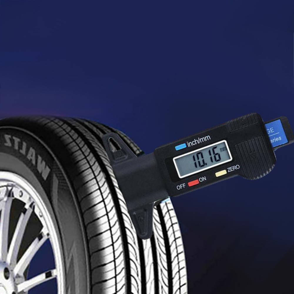 מד עומק ניו לפתח מד צמיג גלגל רכב דיגיטלי מד כלי צמיגים טריד עומק Tester קל לשימוש קארו CSV משלוח מהיר סיטונאות (2)