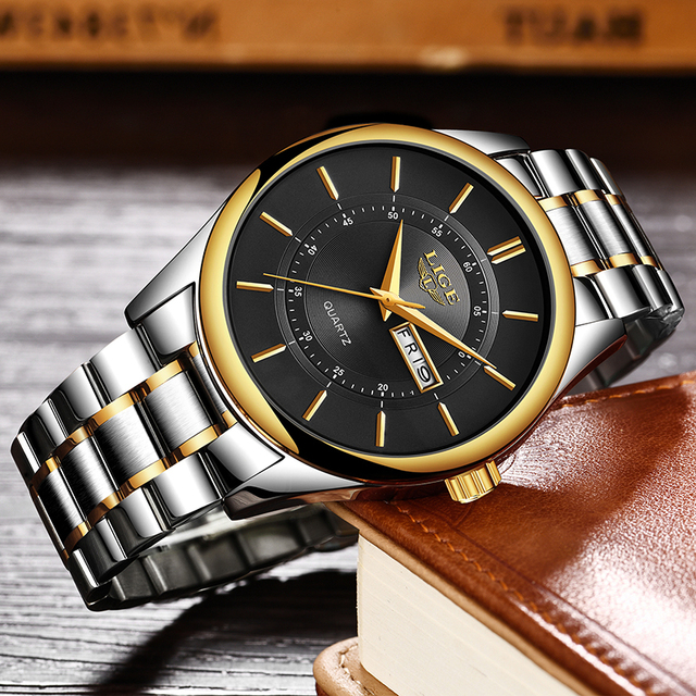 LIGE New Men Watches Top Brand Luxury Fashion Business Quartz Camouflage Watch Men Sport Waterproof Date Clock Relogio Masculino 3
