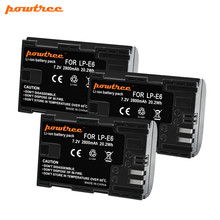 Powtree For Canon 7.2V 2800mAh LP-E6 Rechargeable Camera Battery Replacement LP E6 LPE6 5D 6D 7D 60D 60Da 70D 80D DSLR