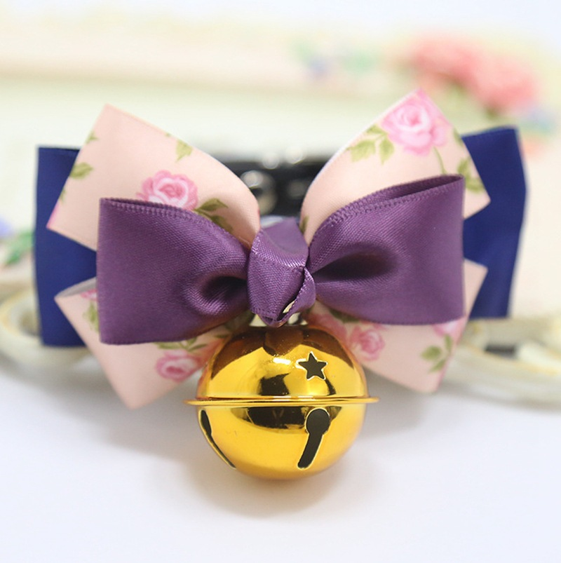 Pet Decorations Dog Neck Ring Pet Dog Tie Knot Small Pet Bow Bell Neck Ring
