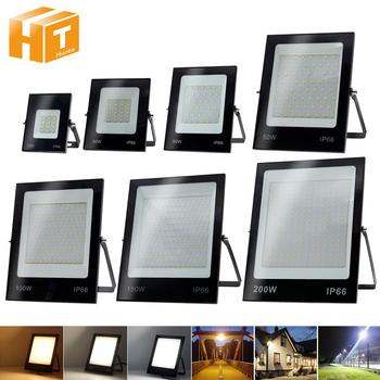 LED światło halogenowe AC220V 50W 100W 150W 200W wysokiej jasności IP66 wodoodporne oświetlenie zewnętrzne LED reflektor ścienny reflektory tanie i dobre opinie Hunta CN (pochodzenie) ROHS Tradycyjne Żarówki LED 220 v ściana zewnętrzna Brak Ultra-thin LED Floodlight do malowania natryskowego