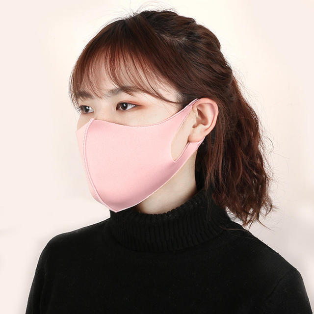 1 Pcs Mouth Mask Breathable Unisex Sponge Face Mask Reusable Anti Pollution Face Shield Wind Proof Mouth Cover 4