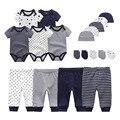 2021, солидный, для мужчин и женщин, для мальчика на весну-осень одежда боди + штаны + шапочка с принтом + перчатки, для маленьких девочек, одежда ...