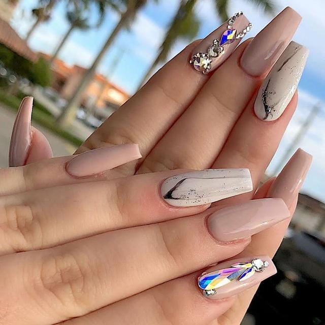 2220 Pcs Nail Decorations Rhinestones Glass Gems Stones Set Multi Shaped Crystal AB FlatBack Rhinestones For Nails Art 3D Craft 3