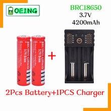 2021 Original 18650 3,7 V 4200 mAh 18650 Lithium-Akku Für GTL EvreFire Taschenlampe batterien + Lii-202 100B Ladegerät