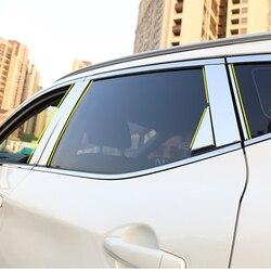 Samochód ze stali nierdzewnej okno filar Post odlewnictwo udekorować pokrywa wykończenia naklejki bliski filar urządzone dla Nissan Qashqai 2018 2019