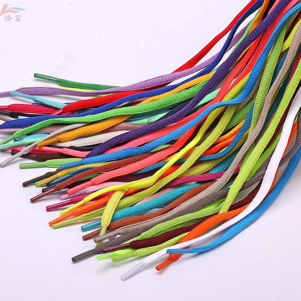 1 Pair Cool Fashion Athletic Oval Shoelaces Sneakers Ropelaces Solid Colors Basketball Bootlaces Ideal Shoe Laces