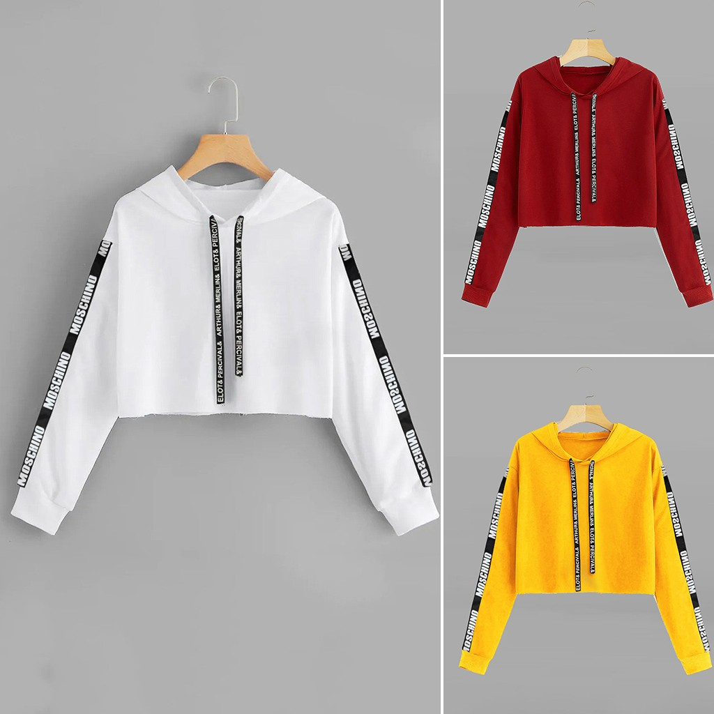 2019 Autumn Fashion Women Long Sleeve Sweatshirt Hoodie Letter Print Pullover Top Blouse OL Style Loose Fashion Workwear Casual