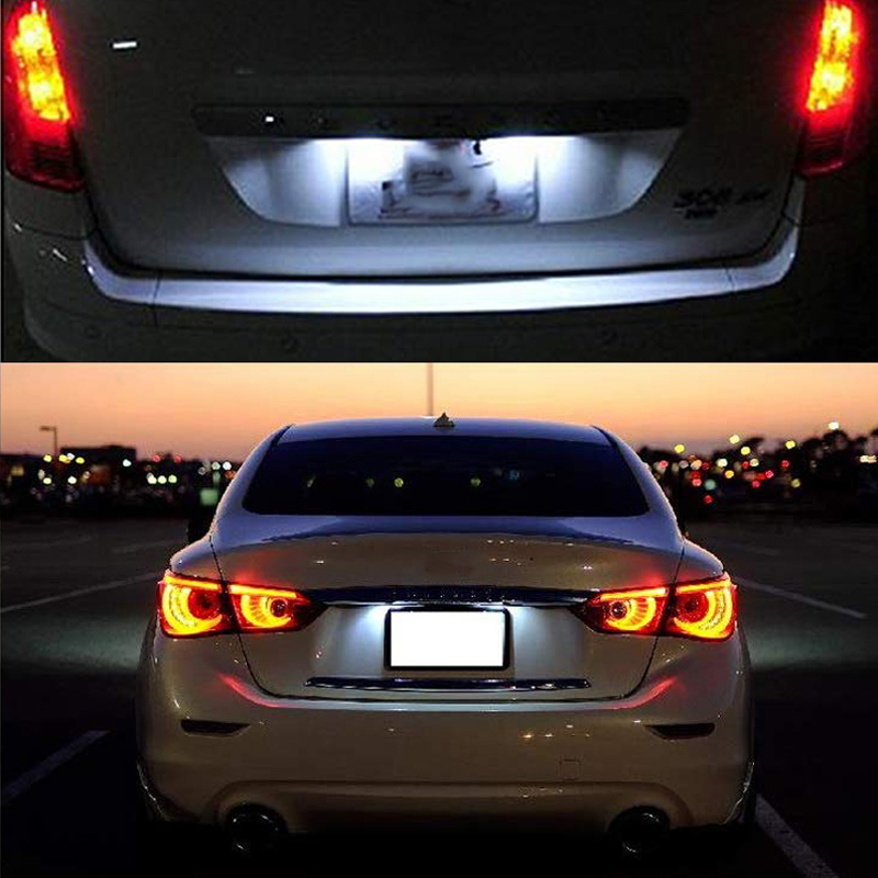 2pcs Led License Number Plate Light License Light For Ford Mondeo BA7 C-MAX Galaxy WA6 Fiesta Ranger For Jaguar XF X250 X351