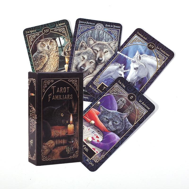 Tarot familiars placa deck de alta qualidade completa inglês cartões para festa jogo em ações