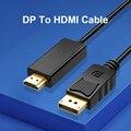 Basix Display Port to HDMI-совместимый 1,8 м 1080P кабель DP-hdmi для подключения ноутбука к проекторам HDTV