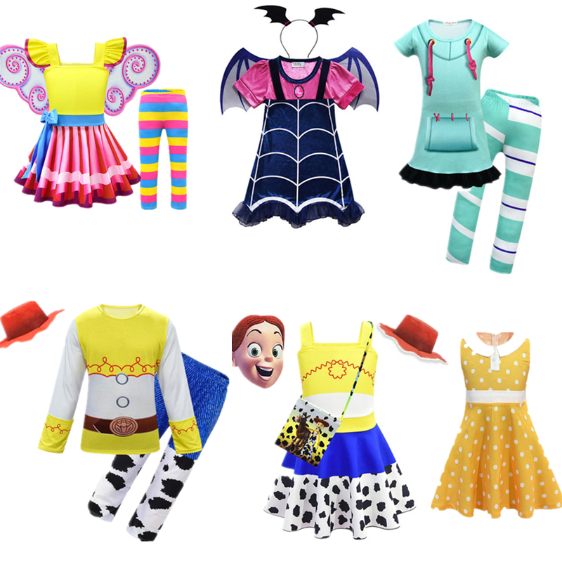 Nancy Princess Cosplay Toy Story  Woody  Jessie Cosplay Wreck-it Ralph Vanellope Von Schweetz Halloween Costumes For Kids Girls