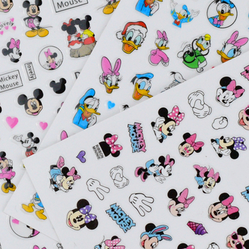 Disney children's cartoon nail art stickers Mickey Mouse Donald Duck Snow White nail decoration decals nude pieces 1
