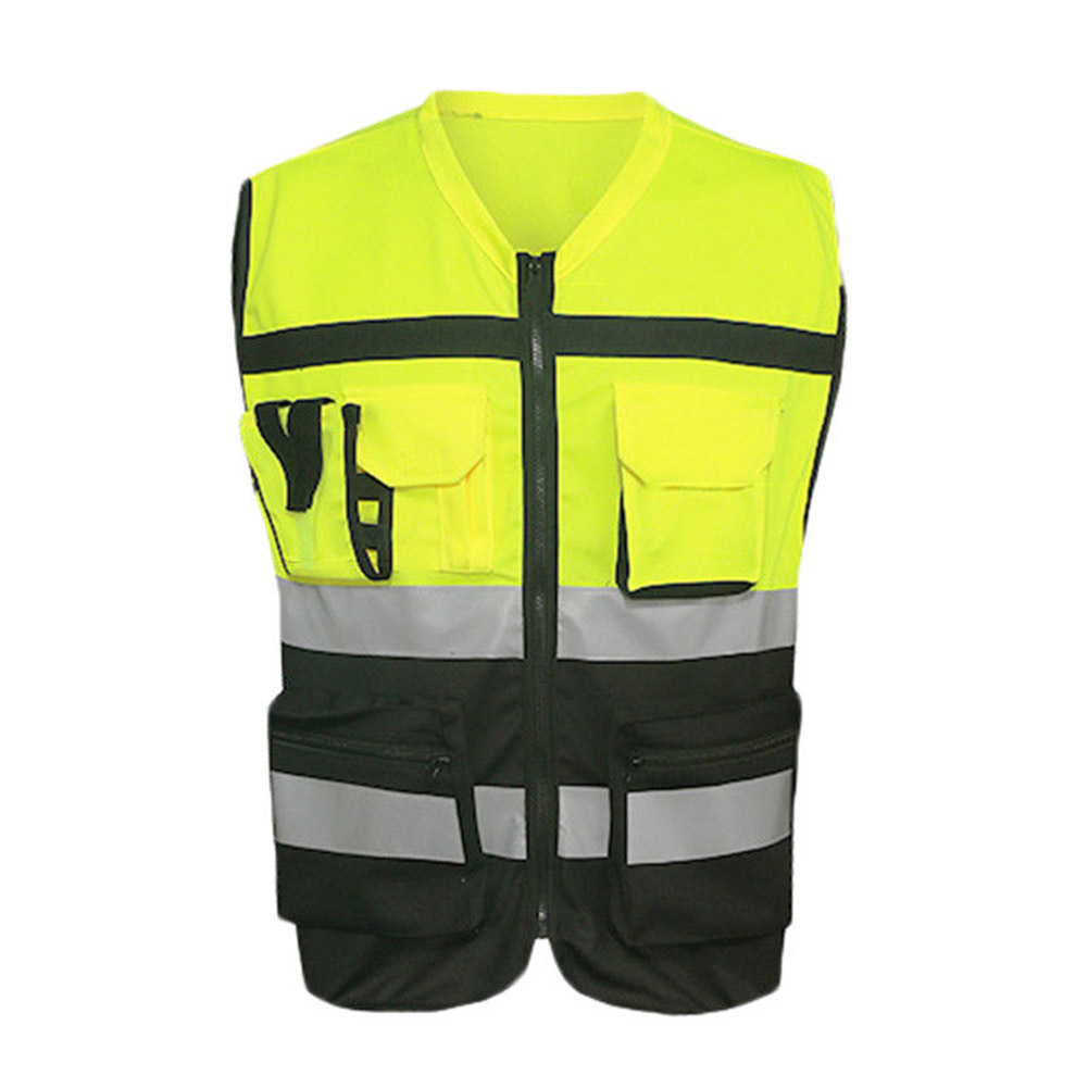 Safety Vest Reflective Driving Jacket Night Security Waistcoat With Pockets SP99
